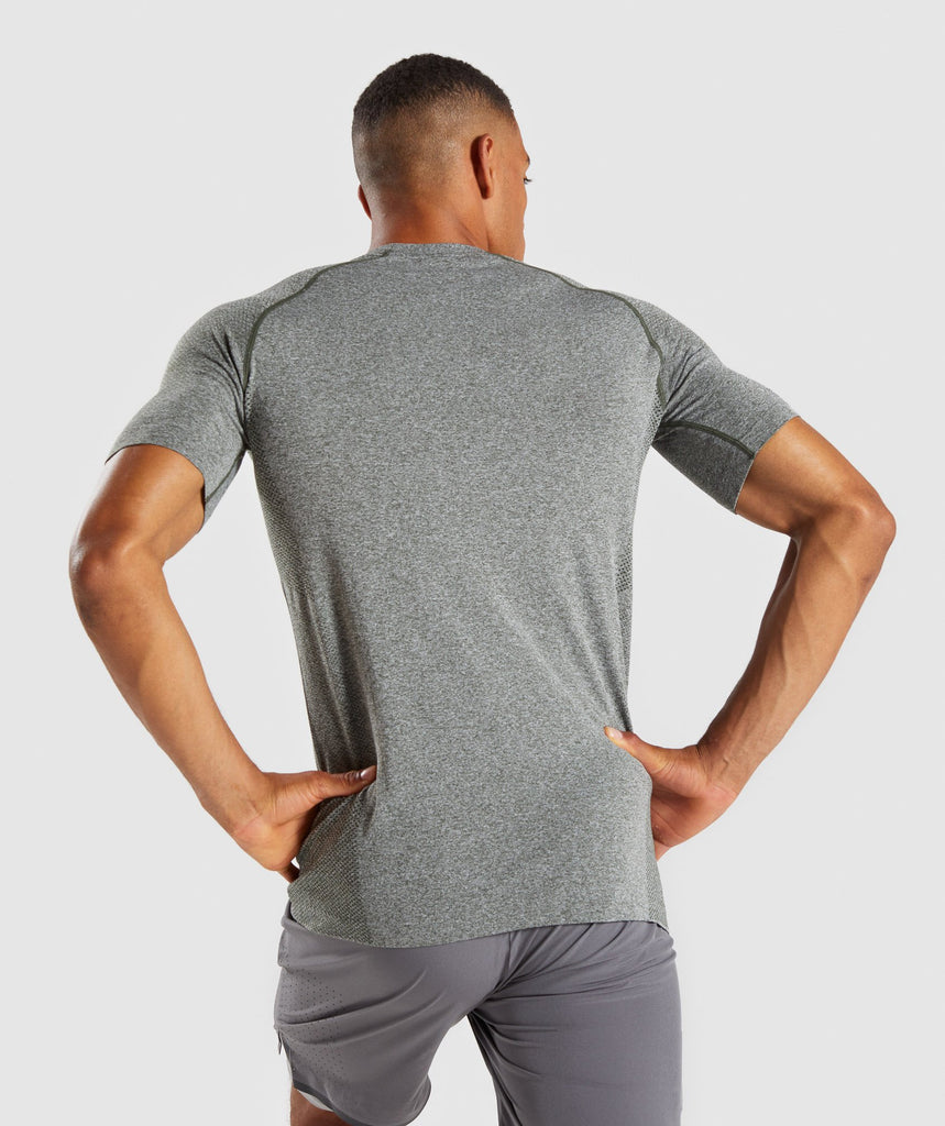 Gymshark Define Seamless T-Shirt - Woodland Green Marl 2