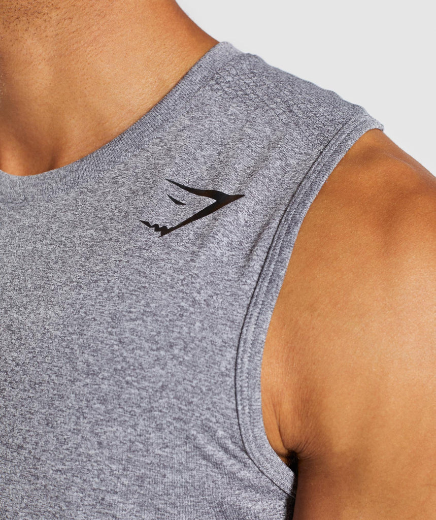 Gymshark Define Seamless Tank - Smokey Grey Marl 5