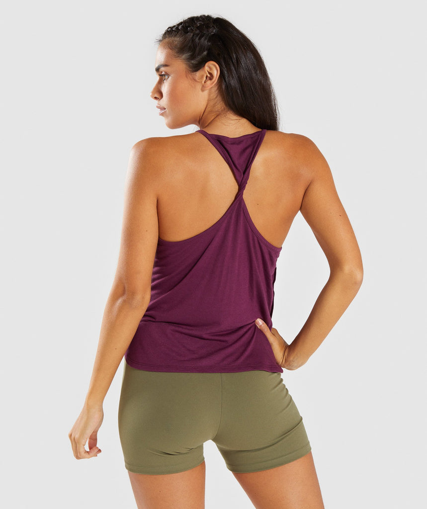Gymshark Distort Palm Vest - Dark Ruby 2