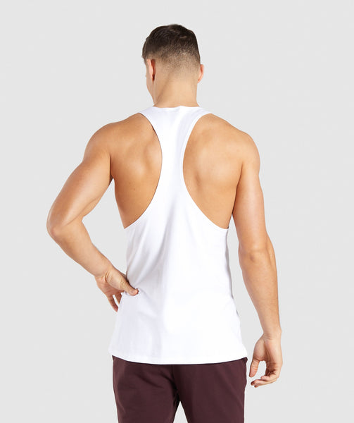 Gymshark Distort Stringer - White 1