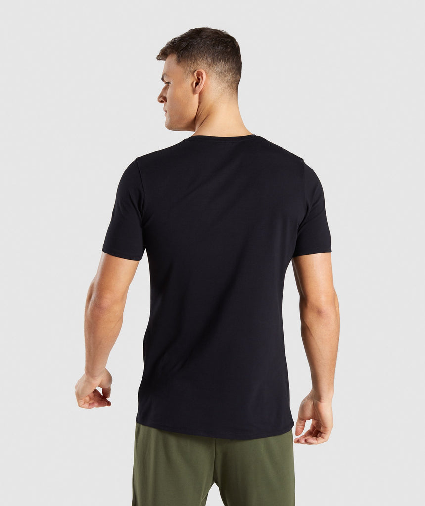 Gymshark Distort T-Shirt - Black 2
