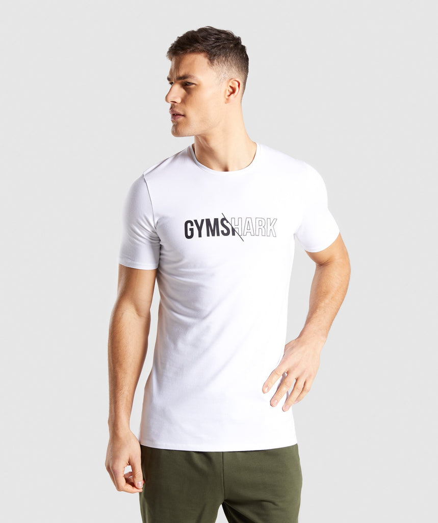 Gymshark Distort T-Shirt - White 1