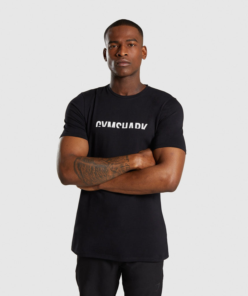 Gymshark Divide T-Shirt - Black 4