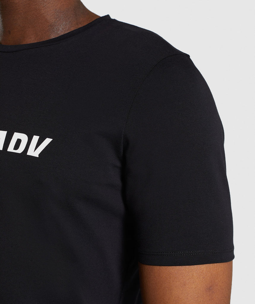 Gymshark Divide T-Shirt - Black 6
