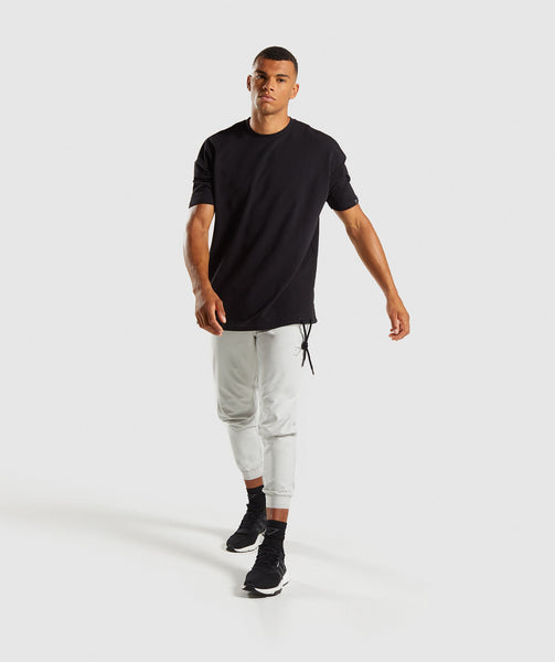 Gymshark Drawcord Sweat T-Shirt - Black 3
