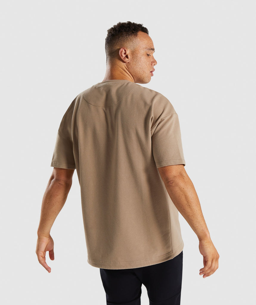 Gymshark Drawcord Sweat T-Shirt - Driftwood Brown 2