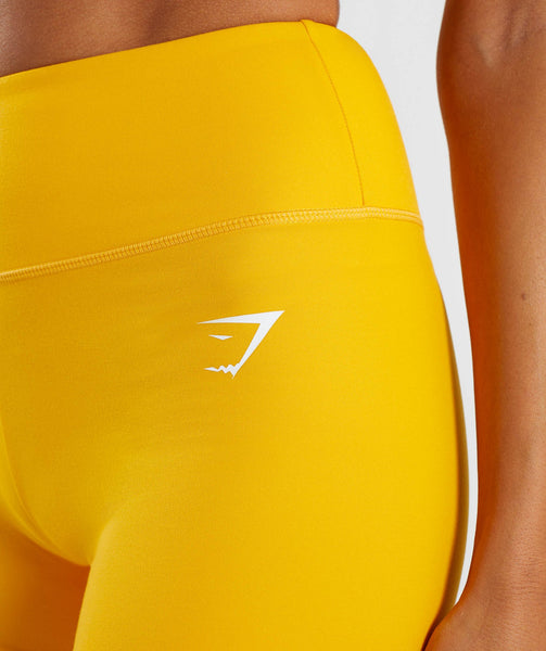 Gymshark Dreamy High Waisted Shorts - Citrus Yellow 4