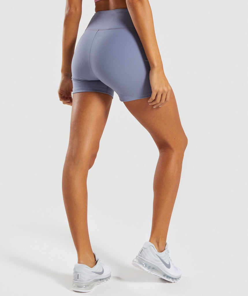 Gymshark Dreamy High Waisted Shorts - Steel Blue 1