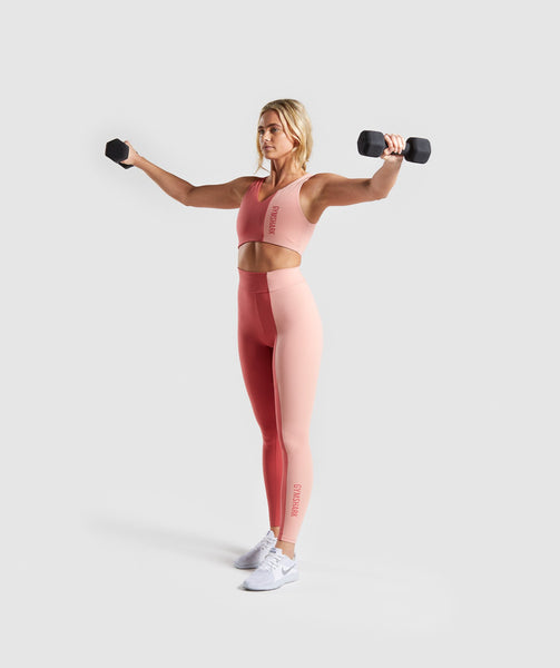 Gymshark Duo Sports Bra - Brick Red/Peach 3