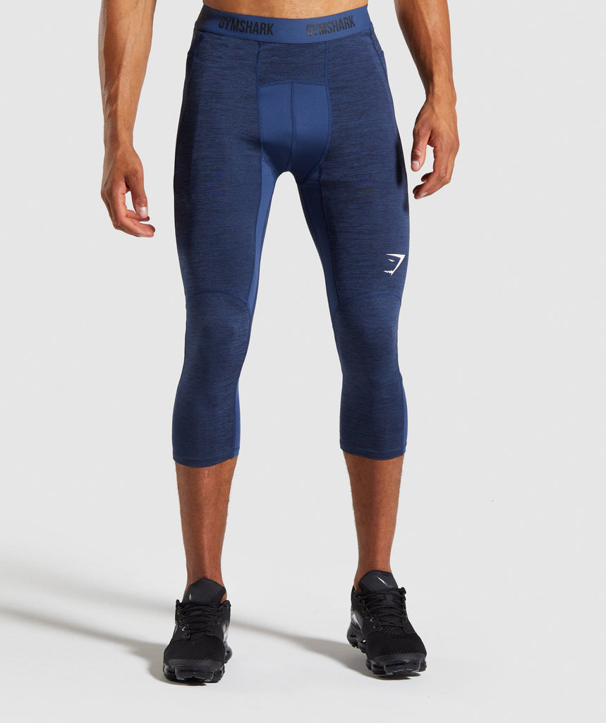 Gymshark Element+ Baselayer 3/4 Leggings - Dark Blue Marl 1