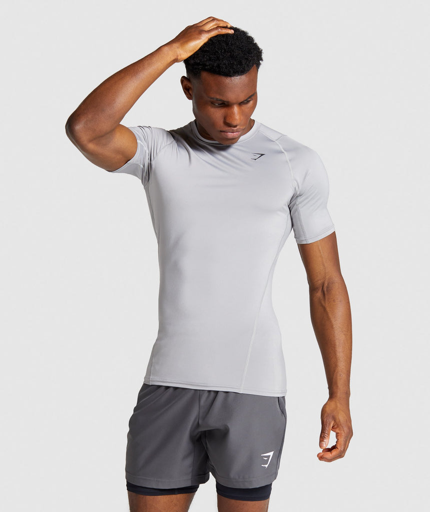 Gymshark Element Baselayer T-Shirt - Light Grey 1