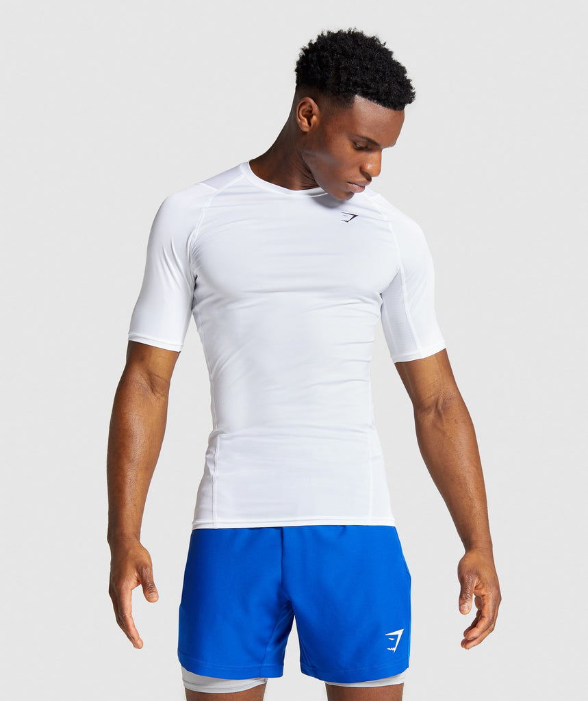 Gymshark Element Baselayer T-Shirt - White 1