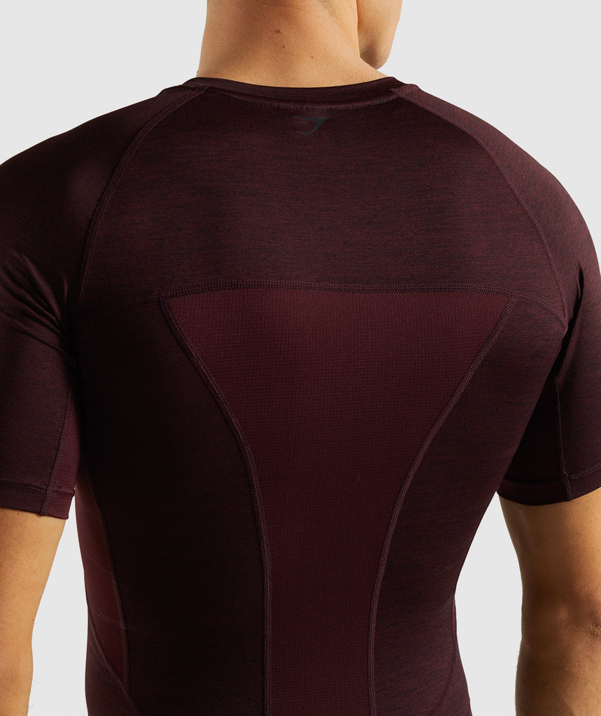 Gymshark Element+ Baselayer T-Shirt - Ox Red Marl 6