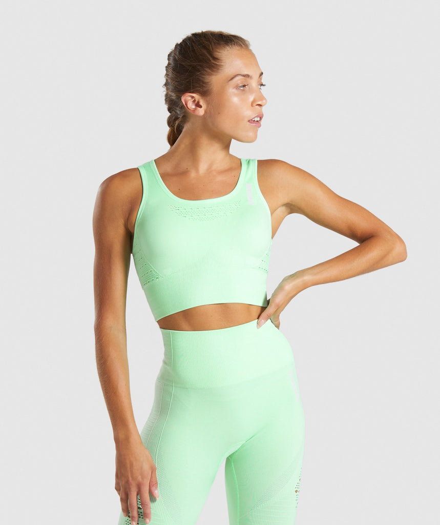 Gymshark Energy+ Seamless Crop Top - Mint 1