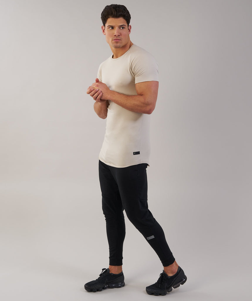 Gymshark Eaze T-Shirt - Washed Beige 1