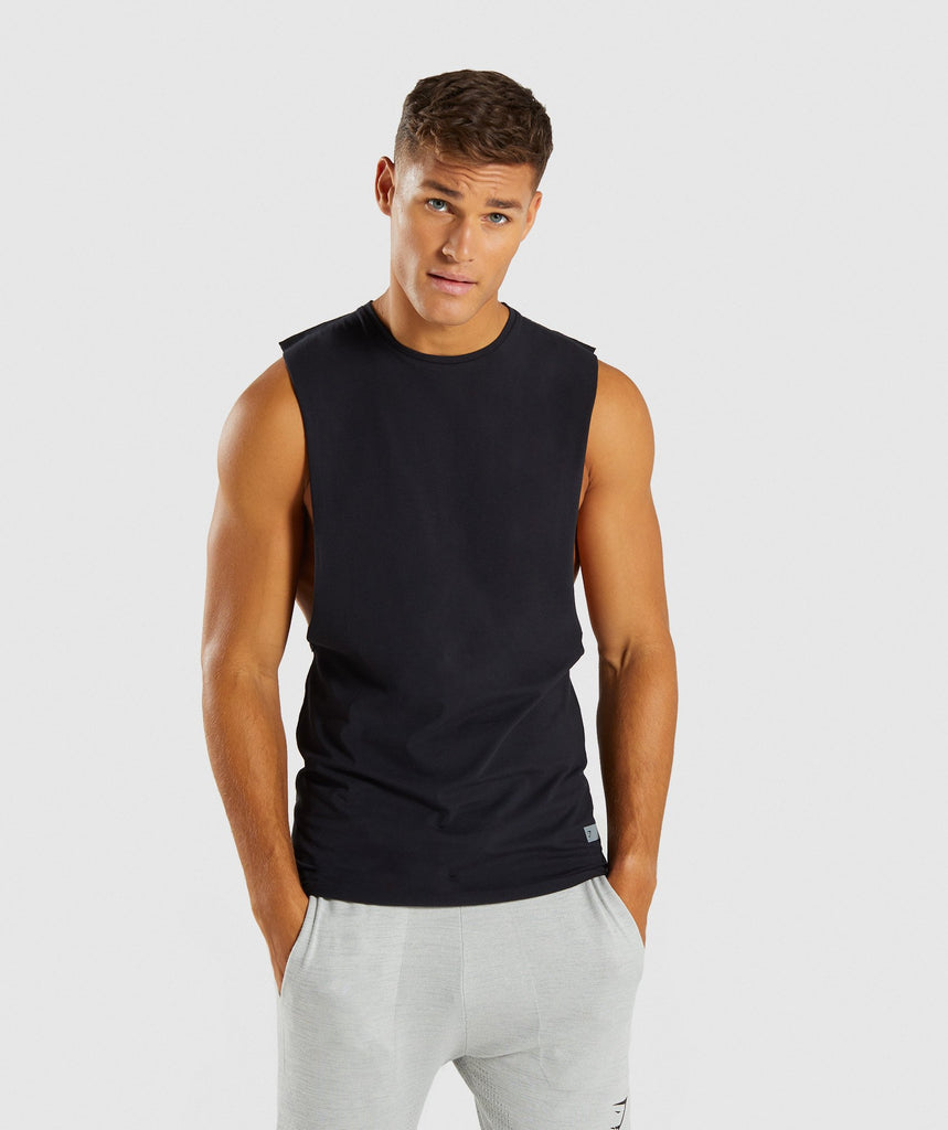 Gymshark Eaze Sleeveless T-Shirt - Black 1