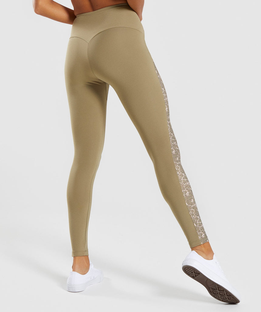 Gymshark Efflux Leggings - Washed Khaki 2