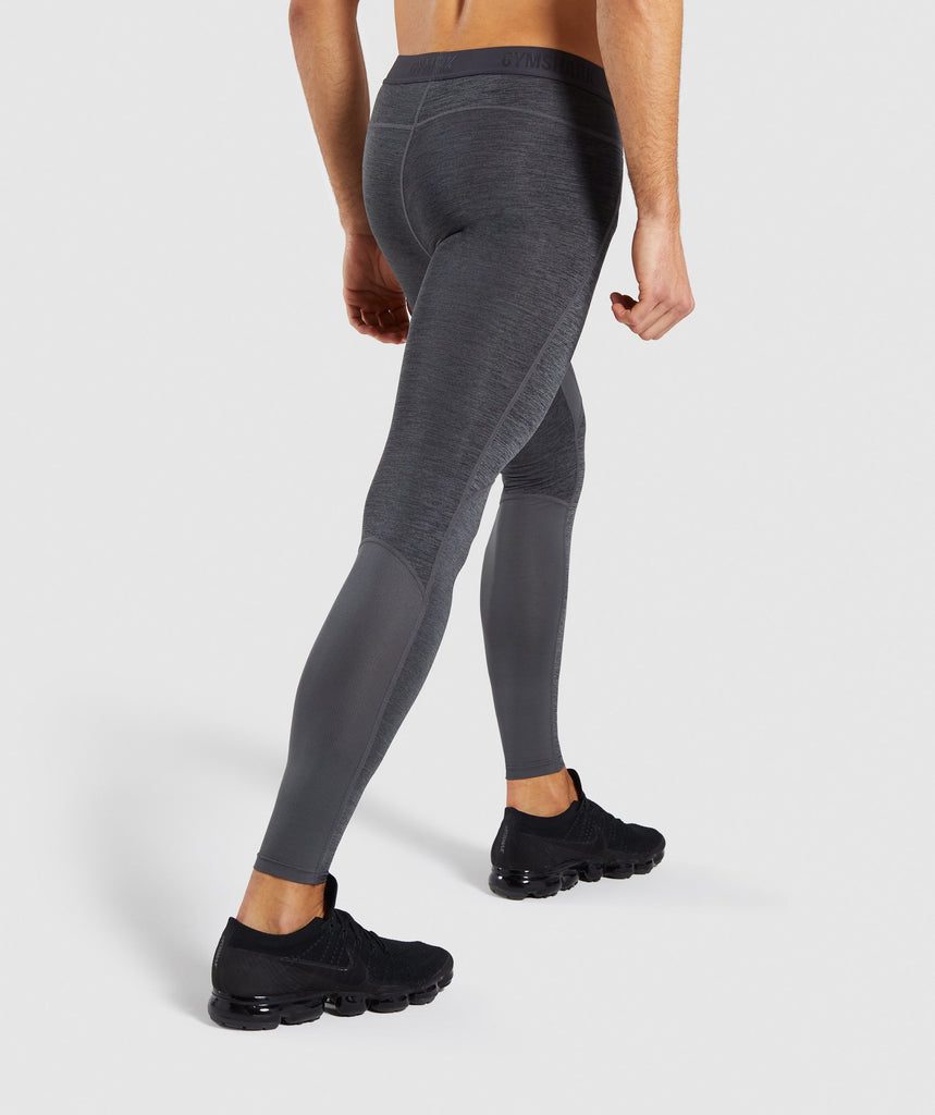 Gymshark Element+ Baselayer Leggings - Black Marl 2