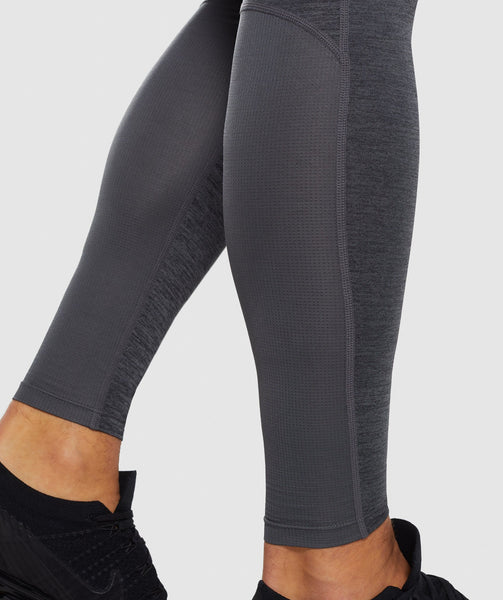 Gymshark Element+ Baselayer Leggings - Black Marl 4