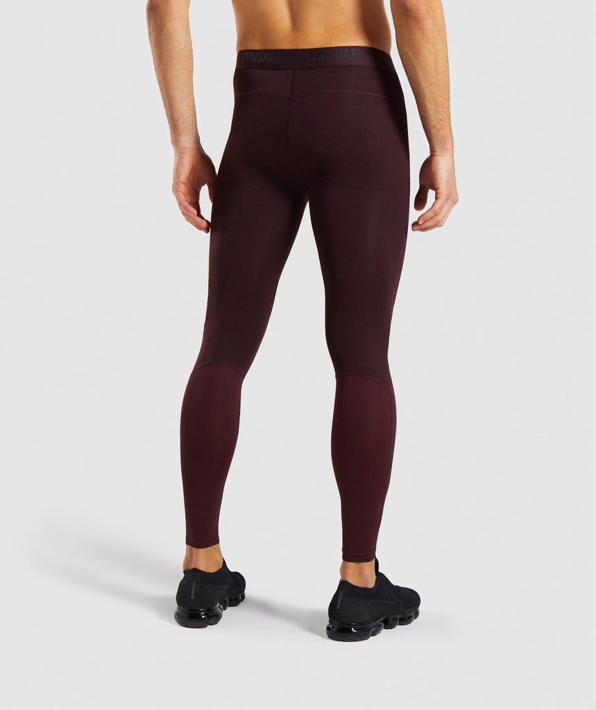 Gymshark Element+ Baselayer Leggings - Ox Red Marl 2