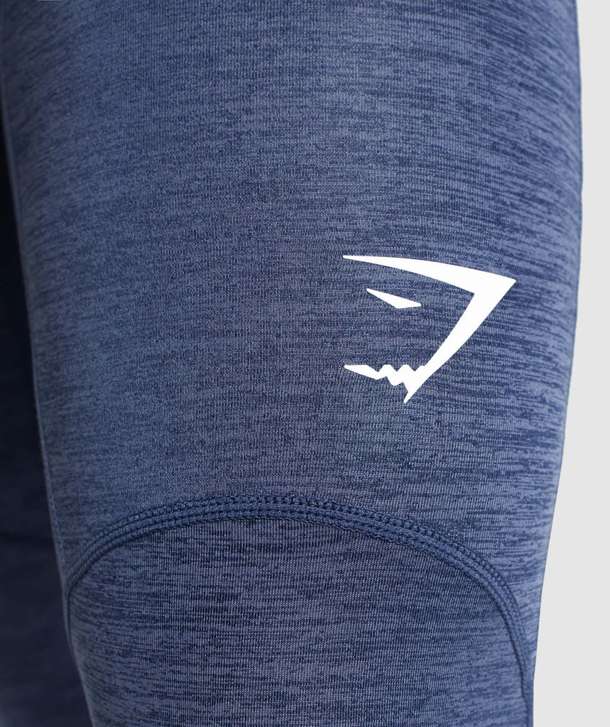 Gymshark Element+ Baselayer 3/4 Leggings - Sapphire Blue Marl 5