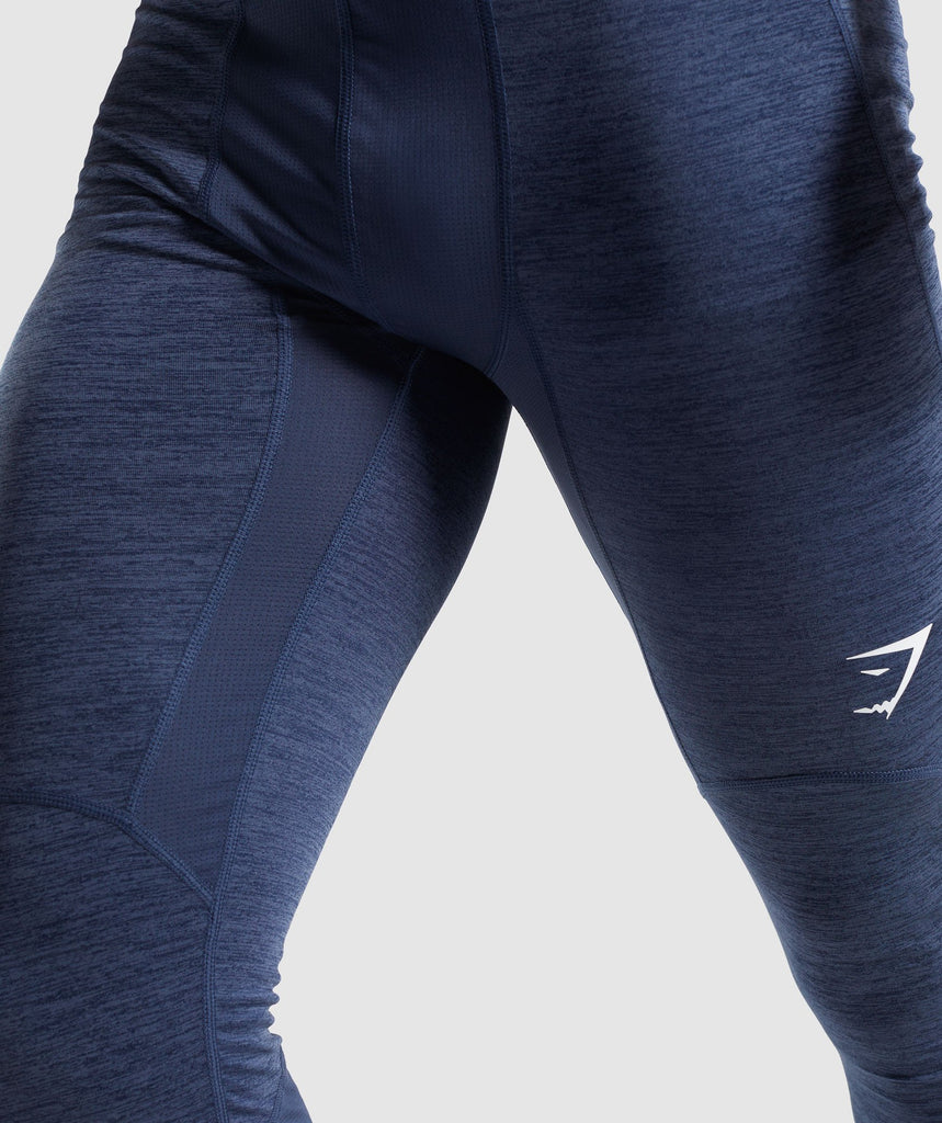 Gymshark Element+ Baselayer 3/4 Leggings - Sapphire Blue Marl 6