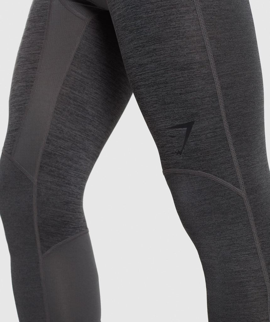 Gymshark Element+ Baselayer 3/4 Leggings - Black Marl 6
