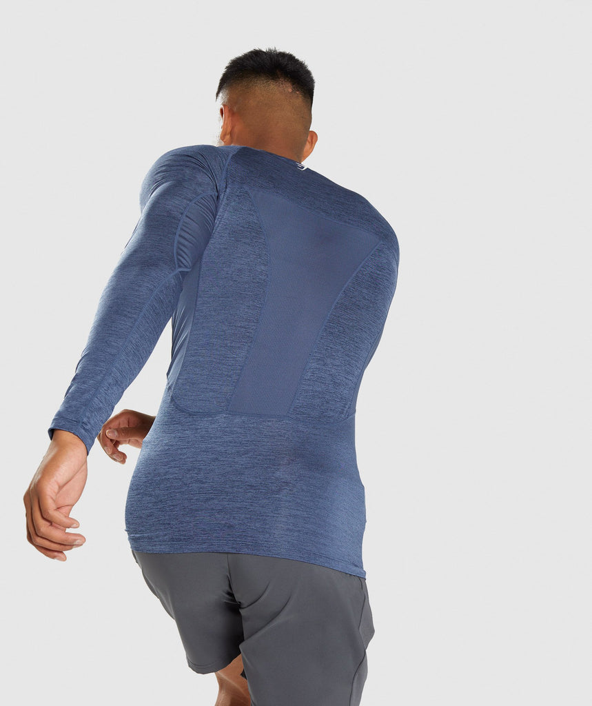 Gymshark Element+ Baselayer Long Sleeve Top - Sapphire Blue Marl 2