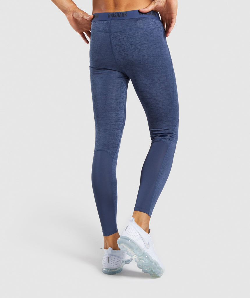 Gymshark Element+ Baselayer Leggings - Sapphire Blue Marl 2