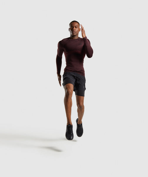 Gymshark Element+ Baselayer Long Sleeve Top - Ox Red Marl 3