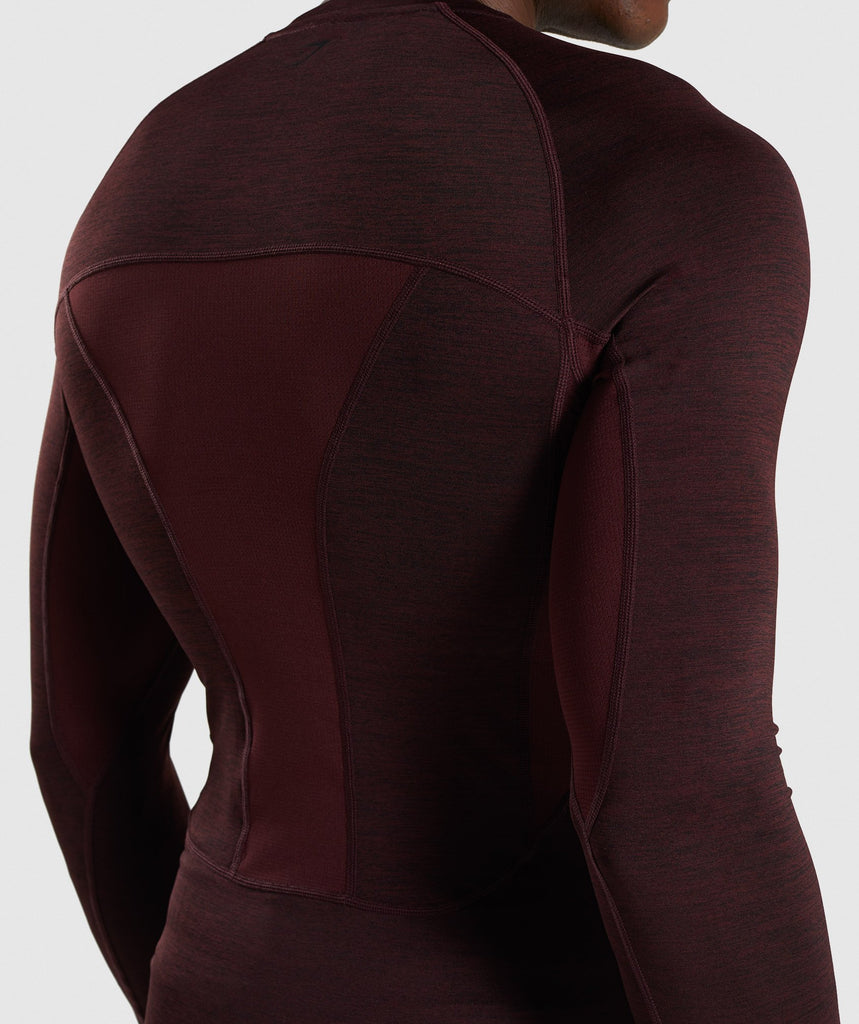 Gymshark Element+ Baselayer Long Sleeve Top - Ox Red Marl 6