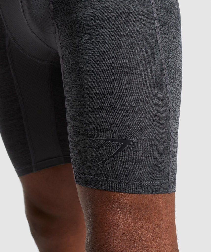 Gymshark Element+ Baselayer Shorts - Black Marl 6