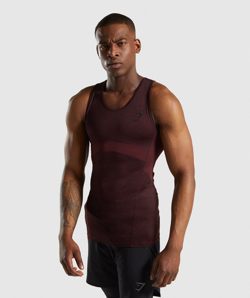 Gymshark Element+ Baselayer Tank - Ox Red Marl 1
