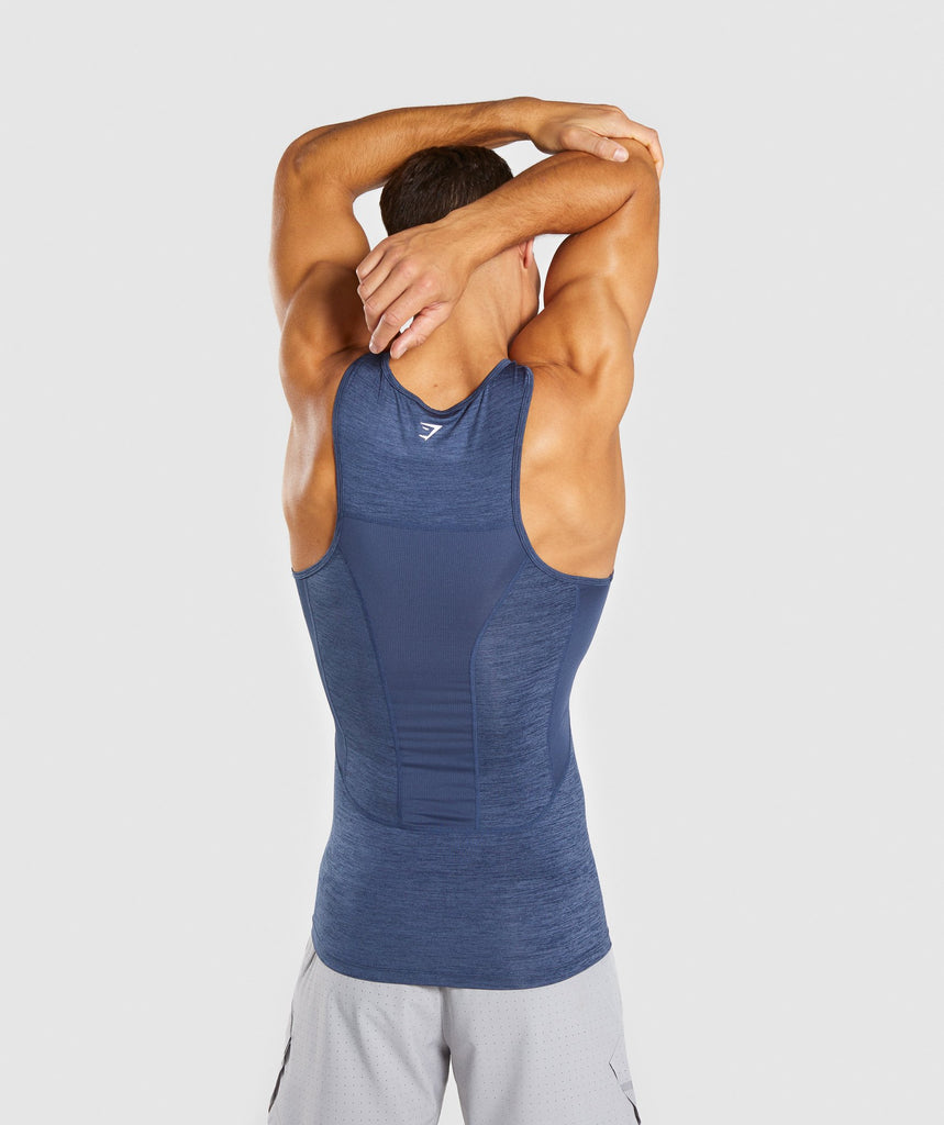 Gymshark Element+ Baselayer Tank - Sapphire Blue Marl 2