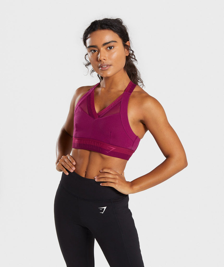 Gymshark Empower Sports Bra - Deep Plum 4
