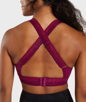Gymshark Empower Sports Bra - Deep Plum 12