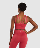 Gymshark Energy+ Seamless Crop Top - Red 8