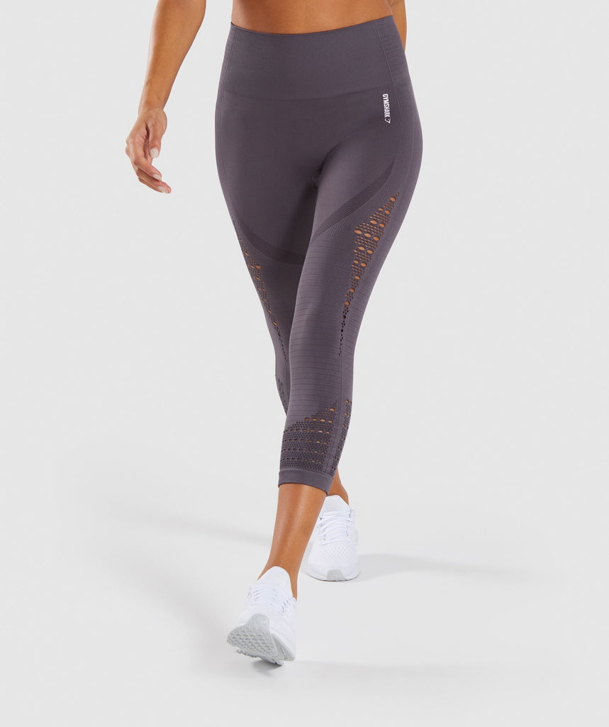 Gymshark Energy+ Seamless Cropped Leggings - Slate Lavender 1