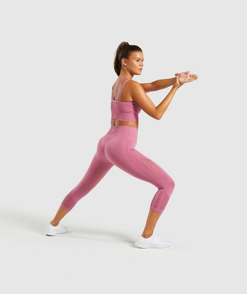 Gymshark Energy+ Seamless Cropped Leggings - Dusky Pink 3