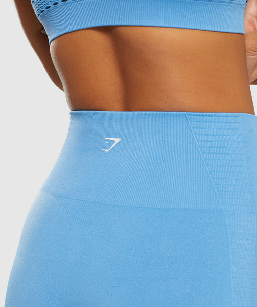 Gymshark Energy+ Seamless Cropped Leggings -  Blue 4