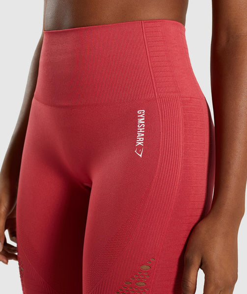 Gymshark Energy+ Seamless Leggings - Red 4