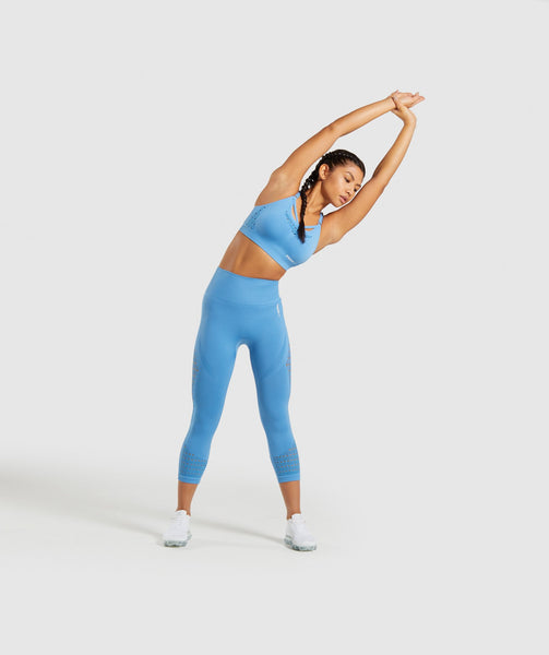 Gymshark Energy+ Seamless Sports Bra - Blue 3
