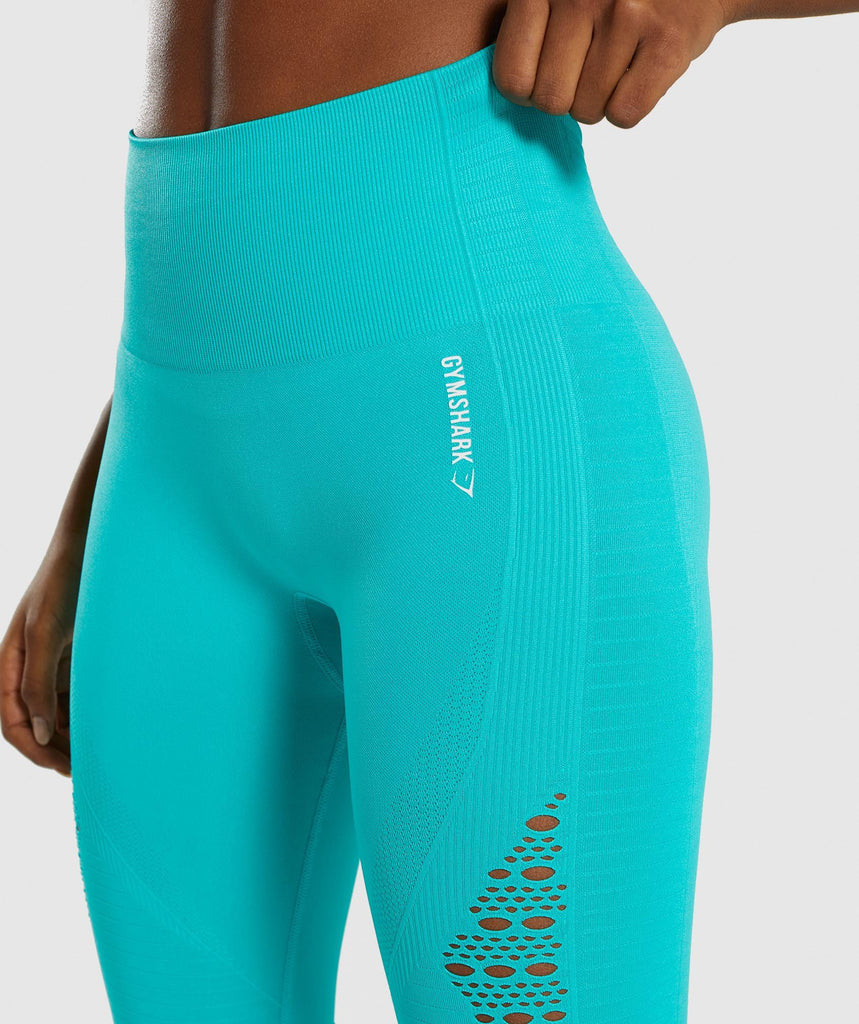 Gymshark Energy+ Seamless Leggings - Tropical Blue 5