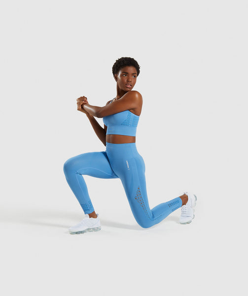 Gymshark Energy+ Seamless Leggings - Blue 3