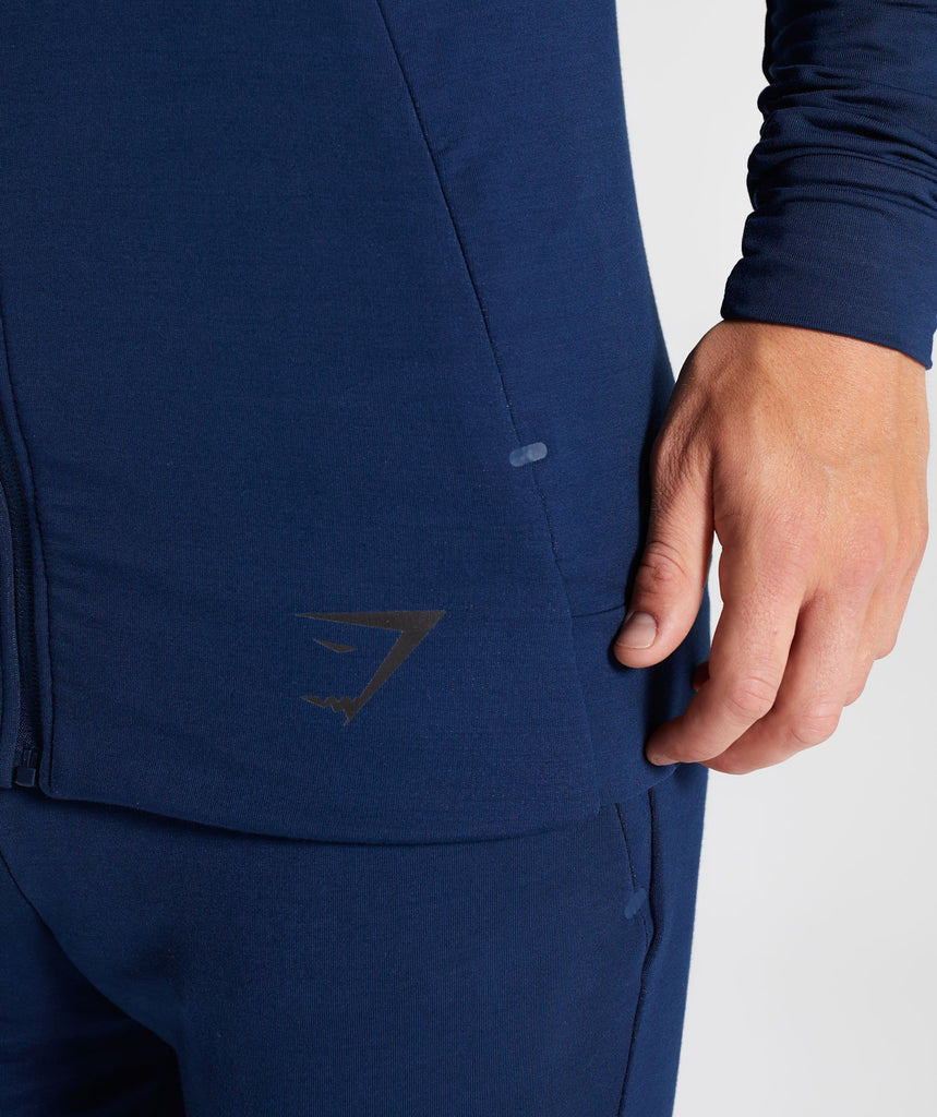 Gymshark Enlighten Zip Hoodie  - Sapphire Blue 6