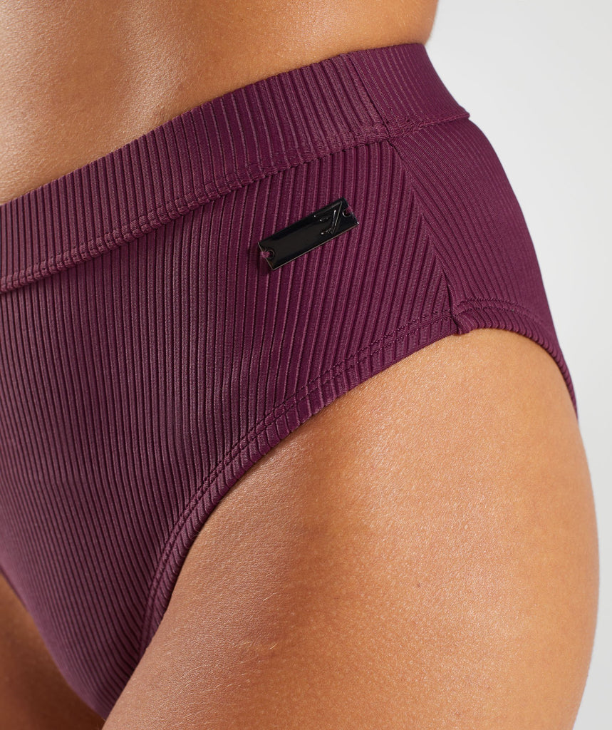 Gymshark Essence Bikini Bottoms - Dark Ruby 5