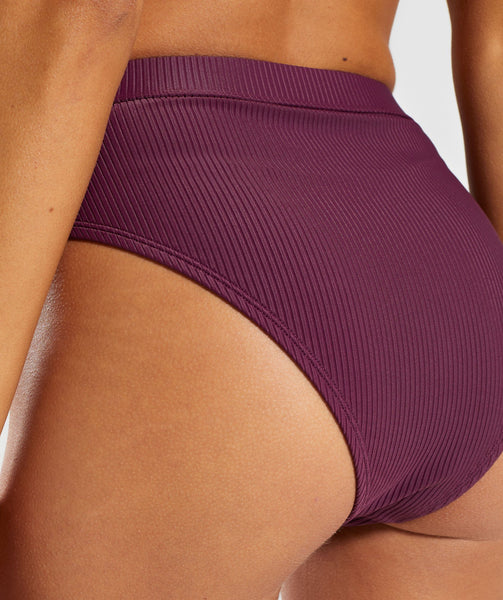 Gymshark Essence Bikini Bottoms - Dark Ruby 4