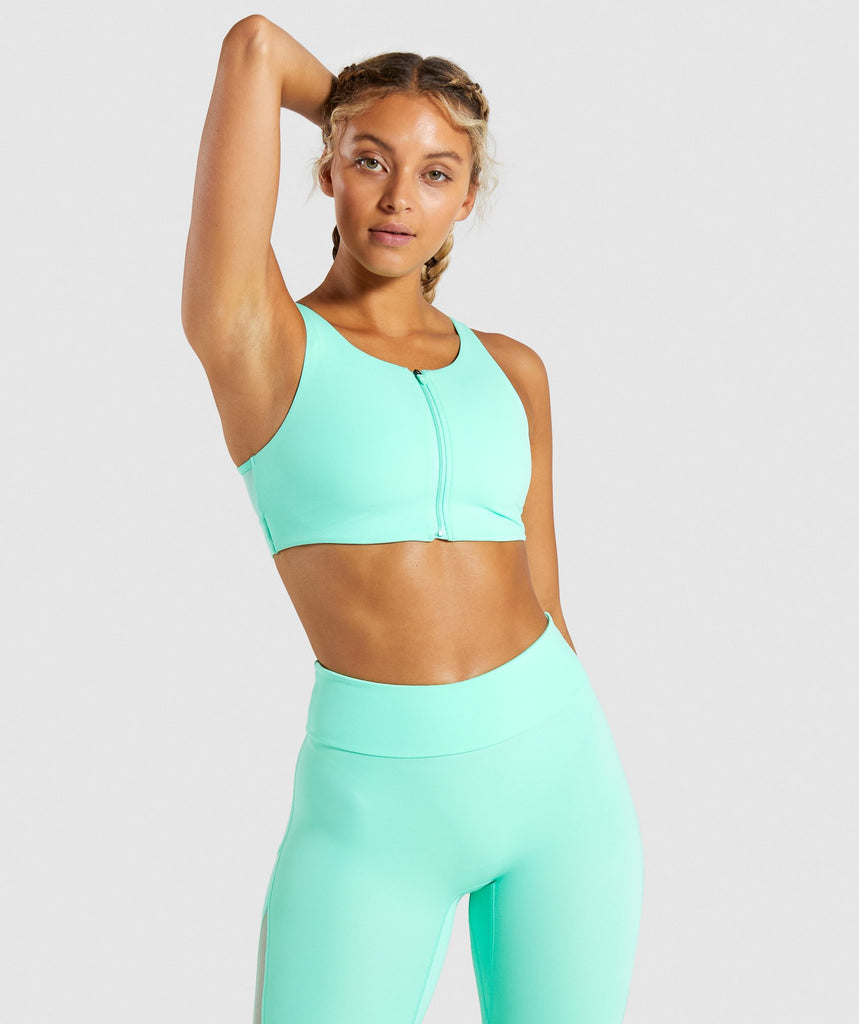 Gymshark Form Sports Bra - Mint 1