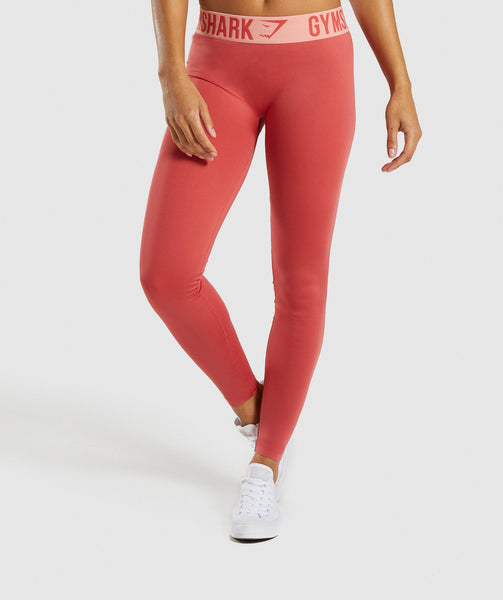 Gymshark Fit Leggings - Orange 4