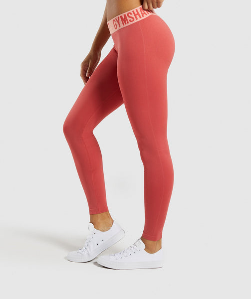 Gymshark Fit Leggings - Orange 2